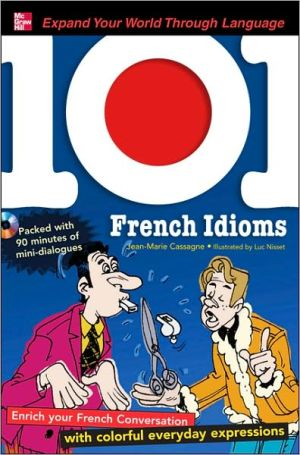 Book cover of 101 French Idioms with MP3 Disc