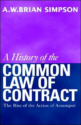 Book cover of A History of the Common Law of Contract