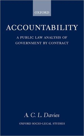 Book cover of Accountability: A Public Law Analysis of Government by Contract