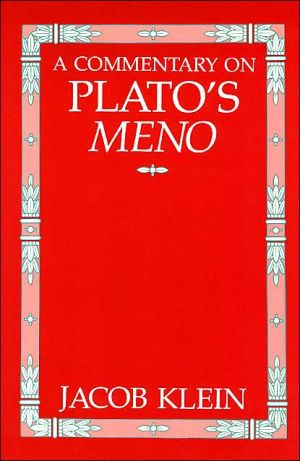 Book cover of A Commentary on Plato's Meno