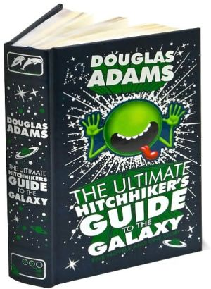 Book cover of The Ultimate Hitchhiker's Guide to the Galaxy (Barnes & Noble Leatherbound Classics)