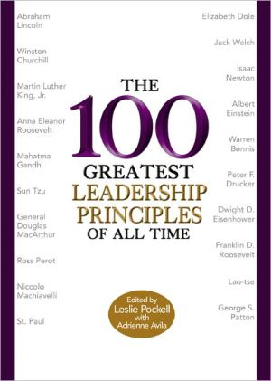 Book cover of 100 Greatest Leadership Principles of All Time