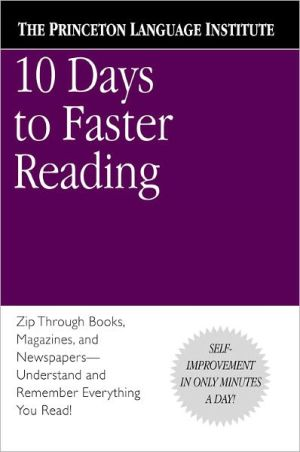 Book cover of 10 Days to Faster Reading