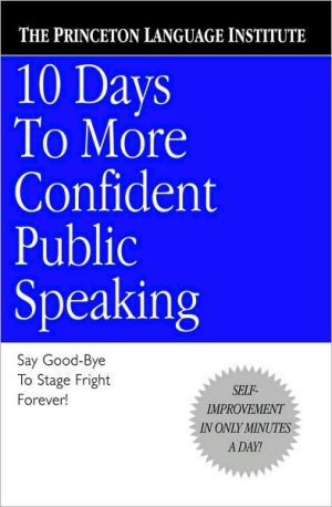 Book cover of 10 Days to More Confident Public Speaking