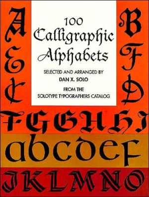Book cover of 100 Calligraphic Alphabets