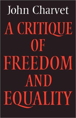 Book cover of A Critique of Freedom and Equality
