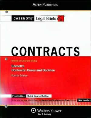 Book cover of Contracts: Keyed to Barnett