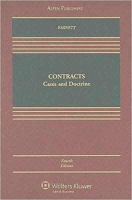 Book cover of Contracts: Cases and Doctrine, Fourth Edition