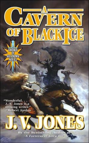Book cover of A Cavern of Black Ice (Sword of Shadows Series #1)