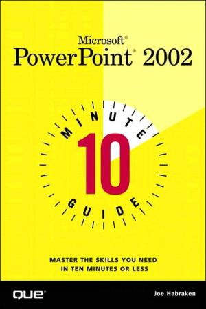 Book cover of 10 Minute Guide to Microsoft PowerPoint 2002
