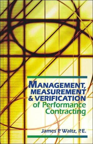 Book cover of Management, Measurement and Verification of Performance Contracting