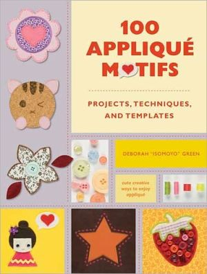 Book cover of 100 Applique Motifs