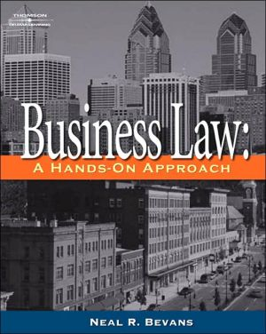 Book cover of Business Law: A Hands-On Approach