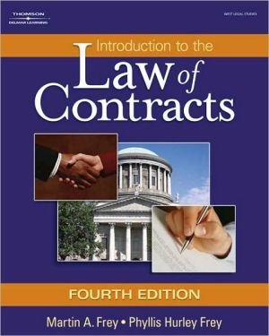 Book cover of Introduction to the Law of Contracts