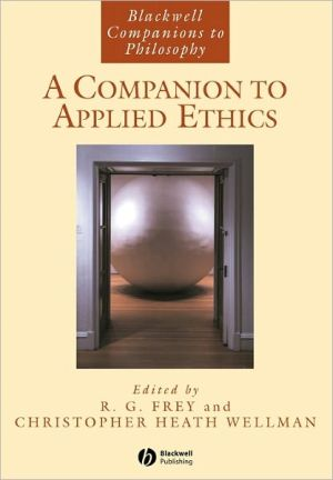 Book cover of A Companion to Applied Ethics