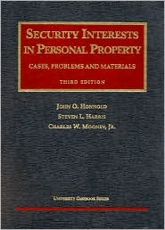 Book cover of Security Interest in Personal Property