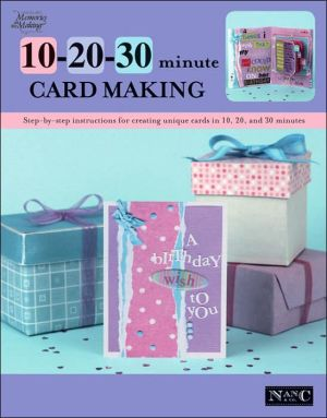 Book cover of 10-20-30 Minute Card Making