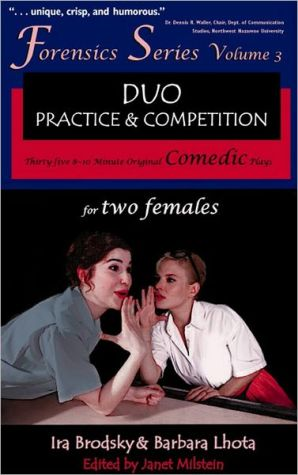 Book cover of 35 Original Comedic Plays for Two Females (Forensics Duo Series), Vol. 3