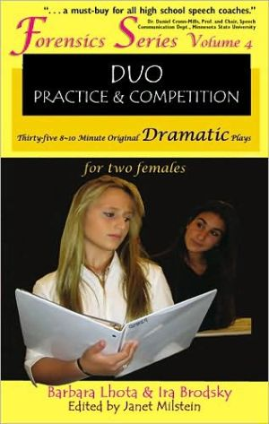 Book cover of 35 Original Dramatic Plays for Two Females (Forensics Duo Series), Vol. 4