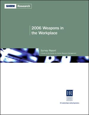 Book cover of 2006 Weapons in the Workplace