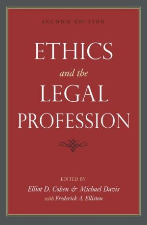 Book cover of Ethics and the Legal Profession