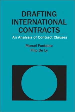 Book cover of Drafting International Contracts